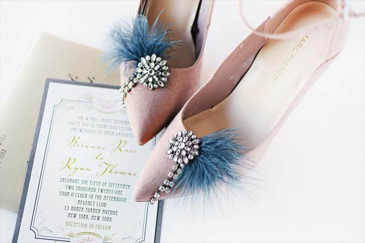 diy vintage inspired shoe clips