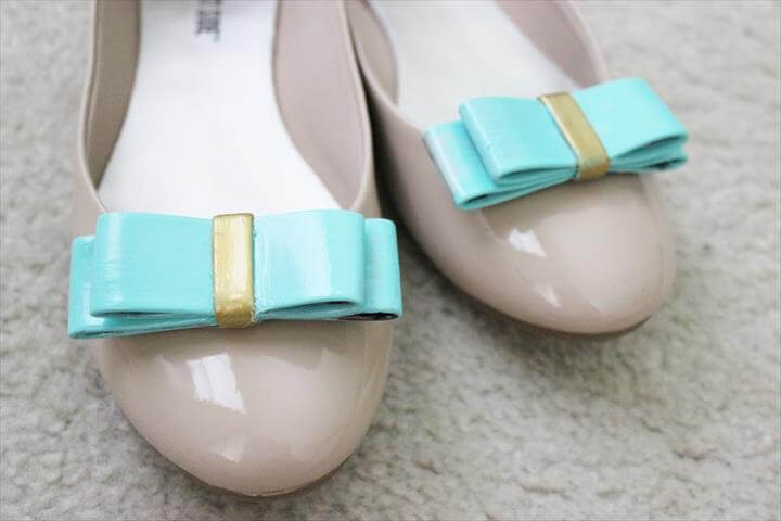 DIY BOW SHOE CLIPS