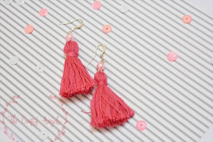 Easy and simple DIY tassel earring tutorial with embroidery threads, earrings diy, diy jewelry