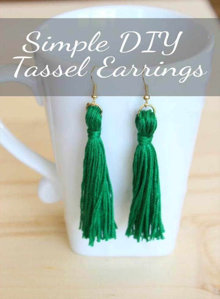 simple diy tassel earrings, tassel earrings, diy tassels, diy tassels earrings, simple