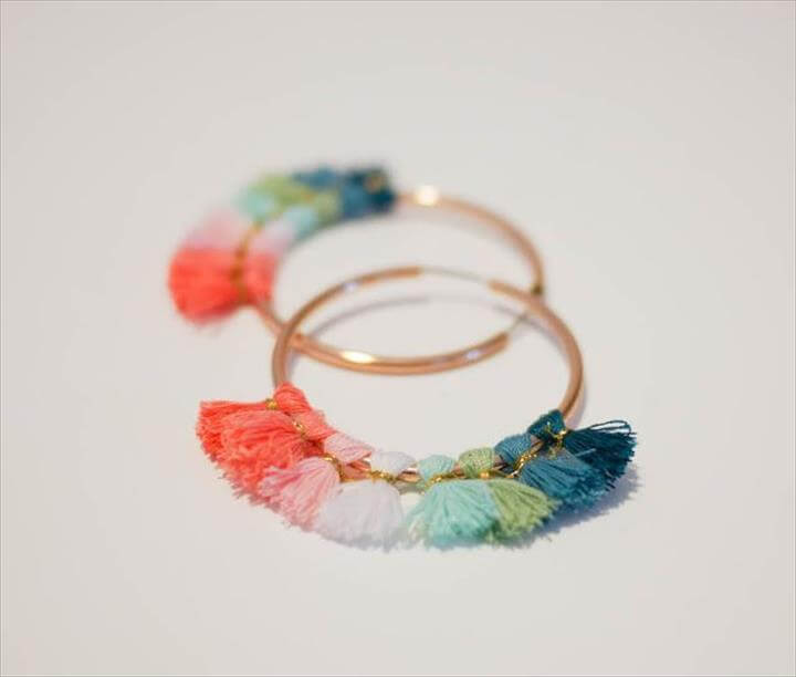 DIY Brass Fringe Earrings