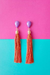 earrings, tassel earrings