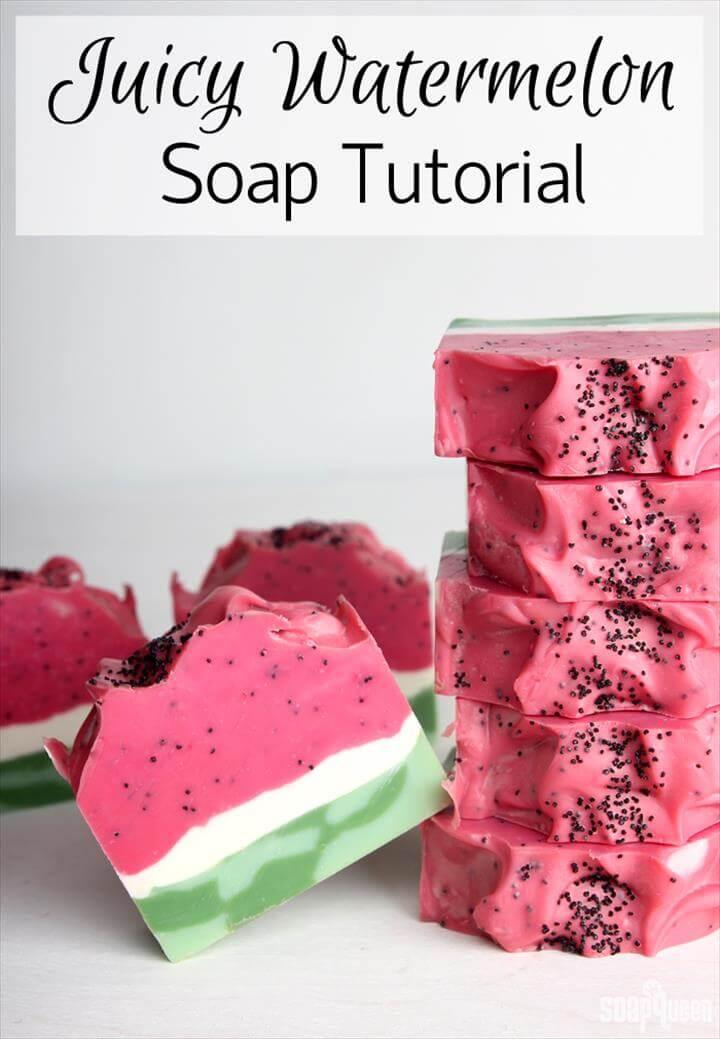 Unique DIY Juicy Summer Melon Soap with Watermelon Fragrance Oil