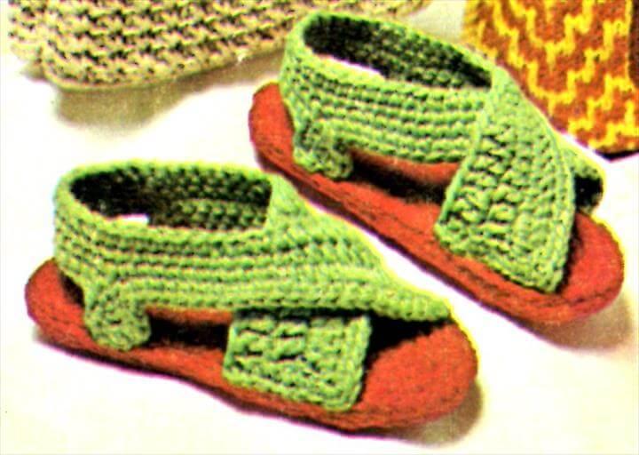 Ladies Sandals Crochet Pattern - Vintage Crafts