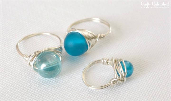 Supplies needed to make your own wrapped wire rings: supply
