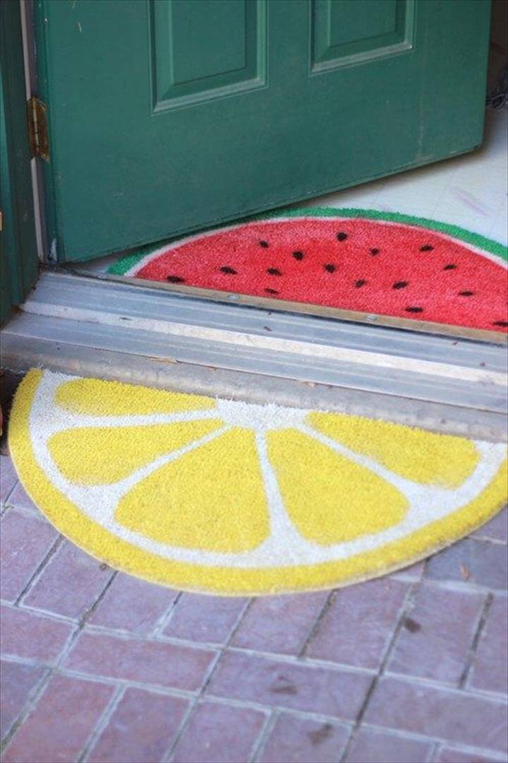 citrus DIY front door mat - Fun Crafts Kids