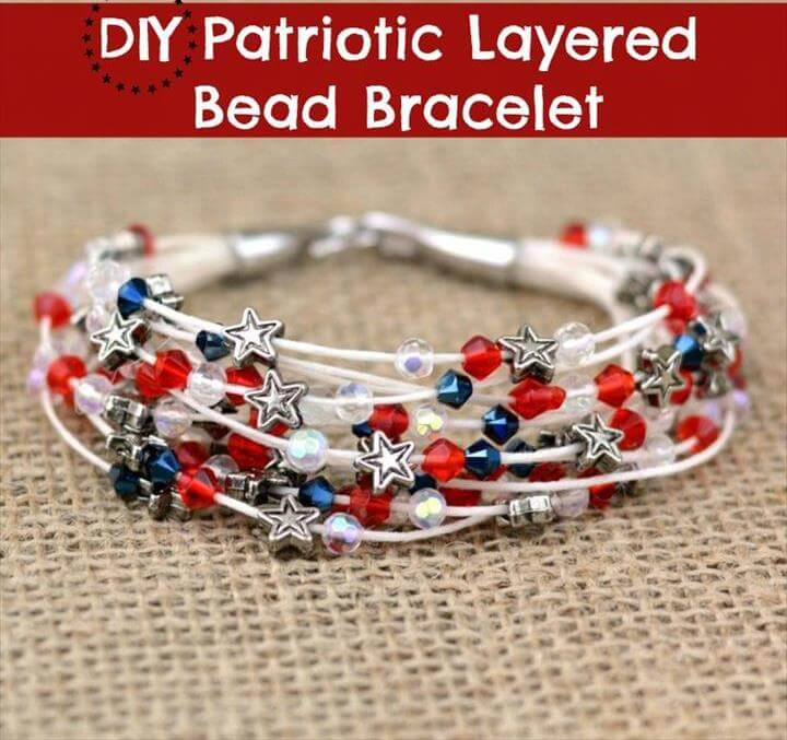 Patriotic Layered Bead Bracelet