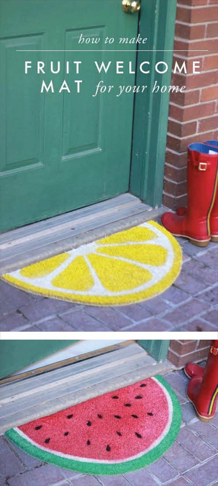 DIY Doormats That Are Almost Too Cute To Wipe.