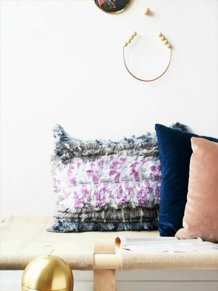 DIY Bohemian No-Sew Pillows
