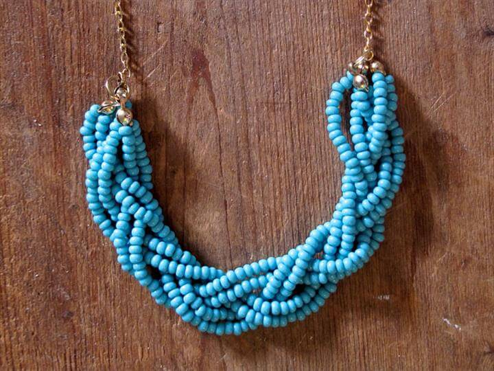 beaded necklace, diy jewelry, diy gift, diy fashion, diy tutorial