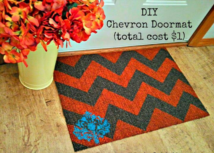 DIY Chevron Doormat