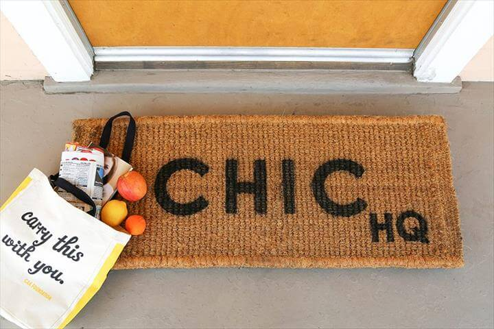 DIY Custom Doormat