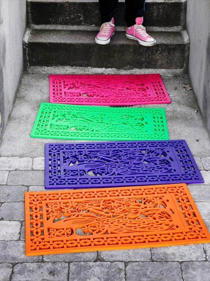 Rubber Door Mat Decor