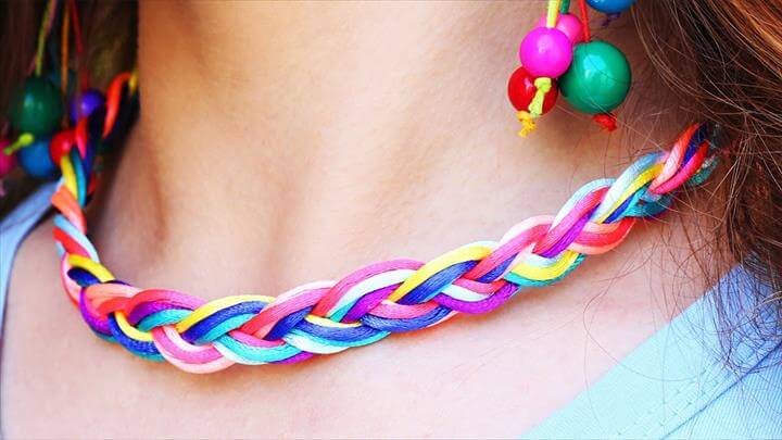 colorful jewelry, diy necklace