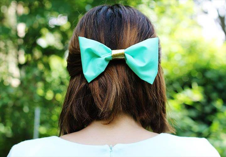 DIY No-Sew Hair Bow