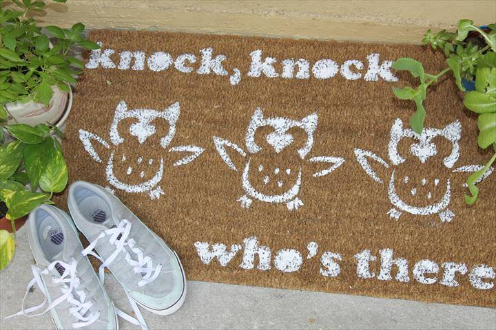 Paint and Customize a DIY Door Mat
