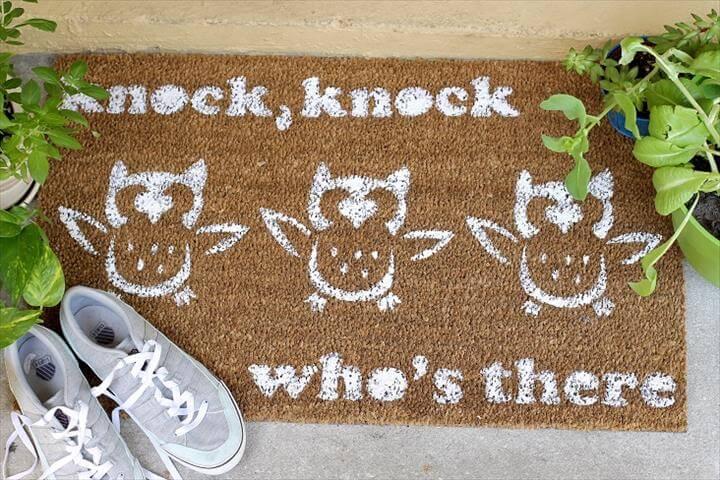 Personalize Your Entryway With a DIY Doormat