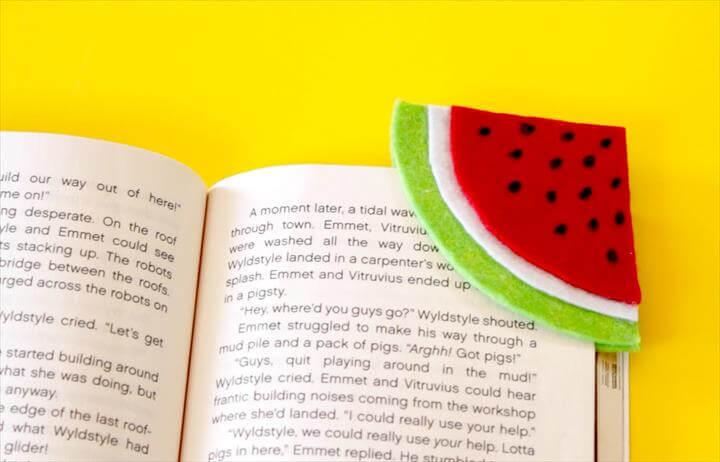 DIY Watermelon Bookmark