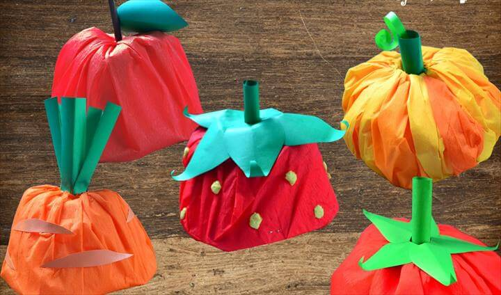 DIY Fruit and Veggies Hats from Paper Boat