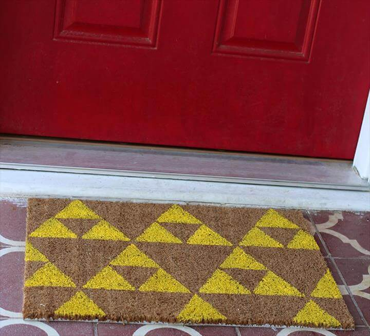 DIY Geek Welcome Mats, Two Ways