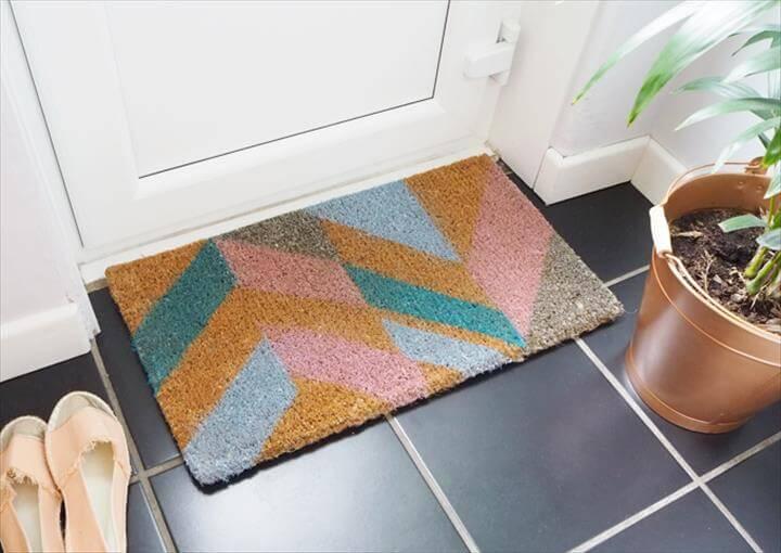 Geometric Door Mat
