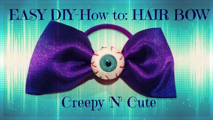 cute hair bow, no sew tutorial