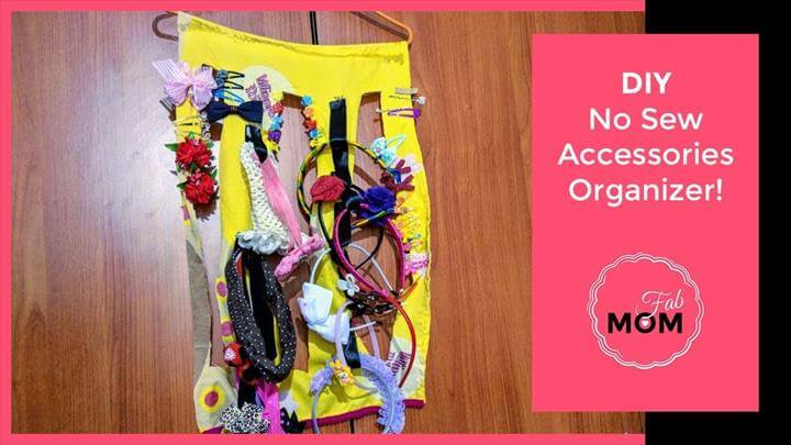 DIY No Sew All Hair Accessories Holder, Organizer - Headband Organization Ideas