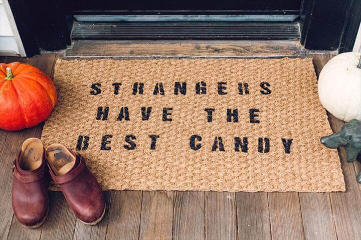 halloween themed door mat