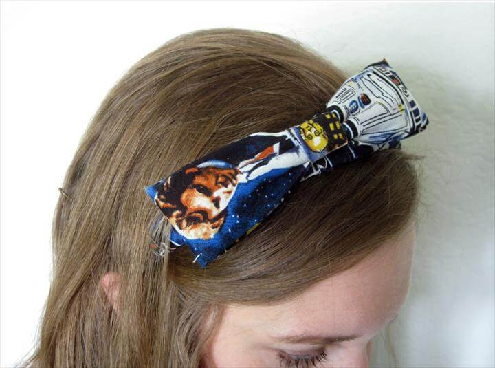 NO-SEW STAR WARS BOW HEADBAND, diy hair accessories, headband, no sew headband