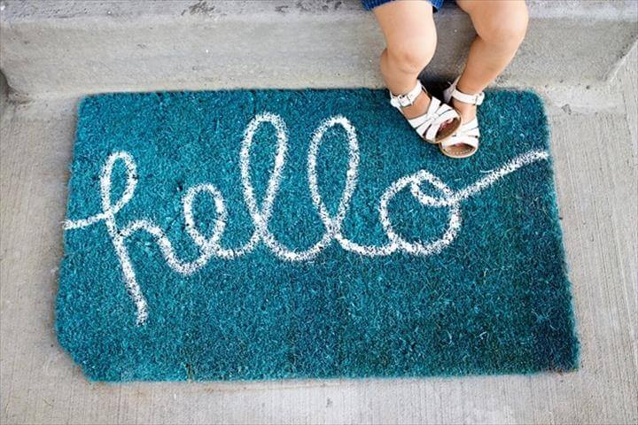 "DIY ""Hello"" Doormat"