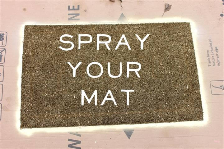 holiday door mat, home decor