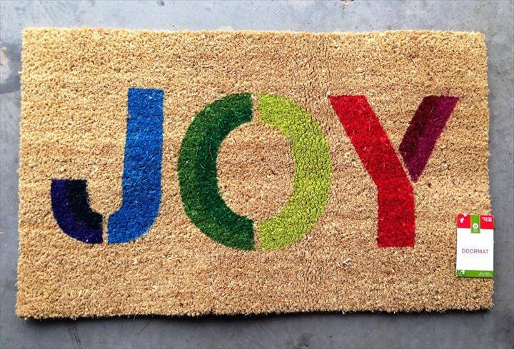 diy door mat, diy tutorial