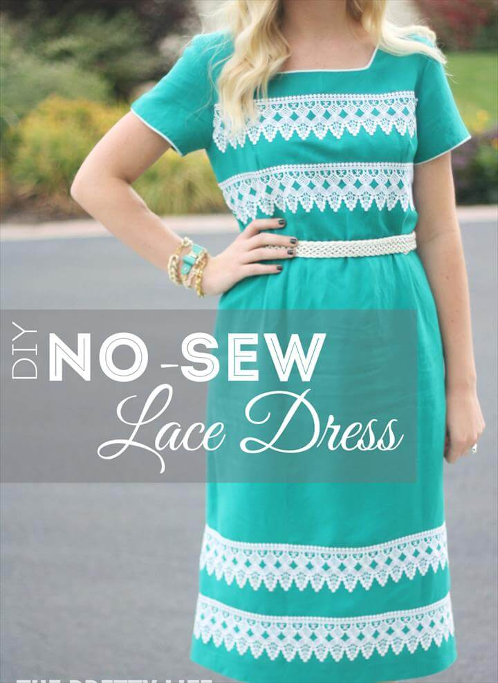 No-Sew Lace Dress