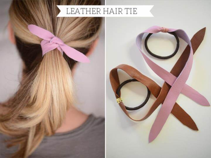 DIY: Leather Hair Tie - Cupcakes & Cashmere
