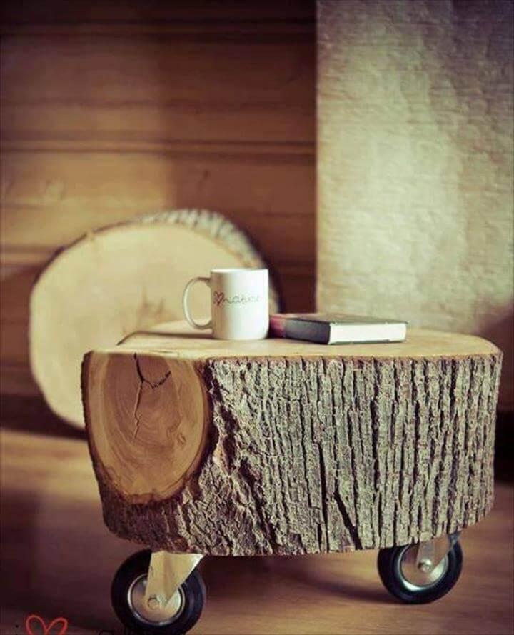 Diy Log Table Lovely