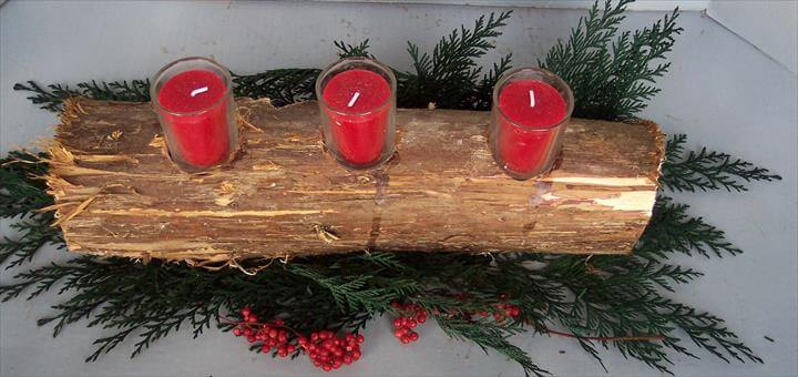 Log Craft Ideas. Rustic Christmas Crafts