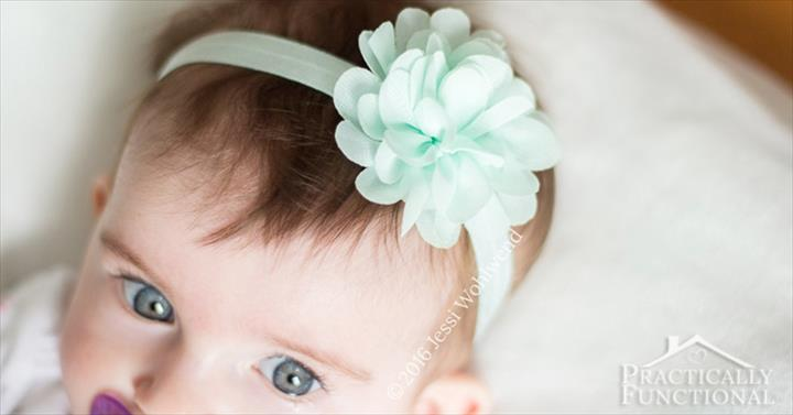 DIY No Sew Baby Flower Headbands