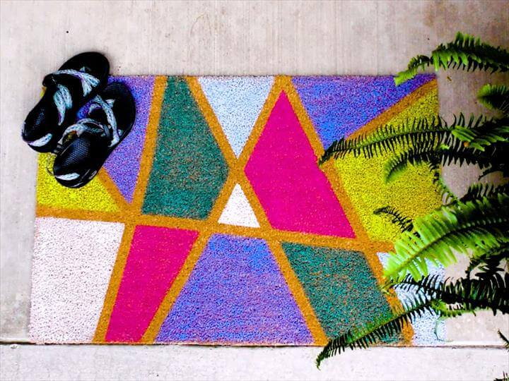 DIY Abstract Door Mat