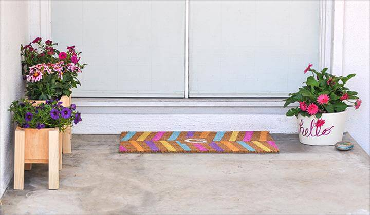 Easy DIY Personalized Doormat