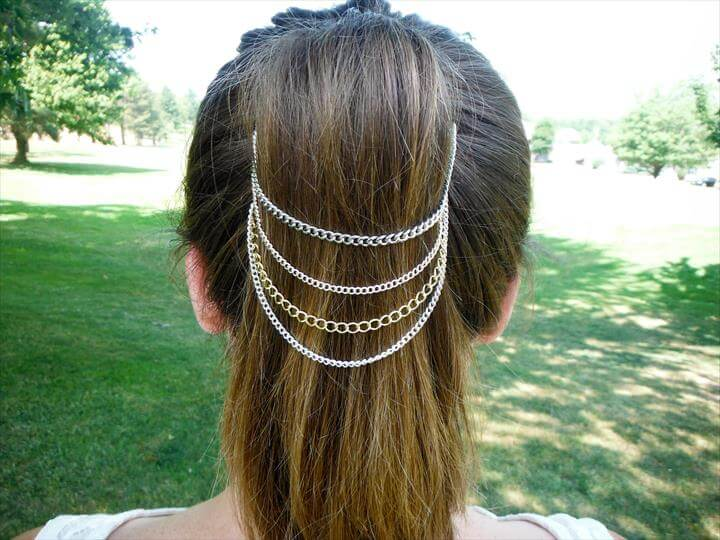 DIY Belle Noel Ponytail Chains