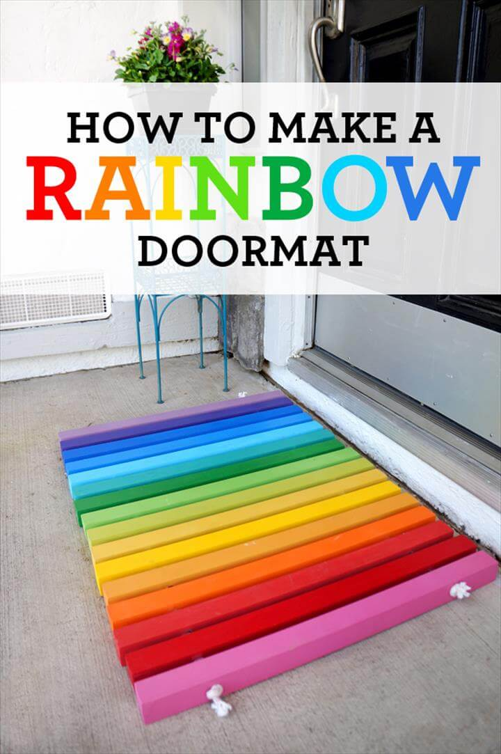 DIY Rainbow Doormat Tutorial