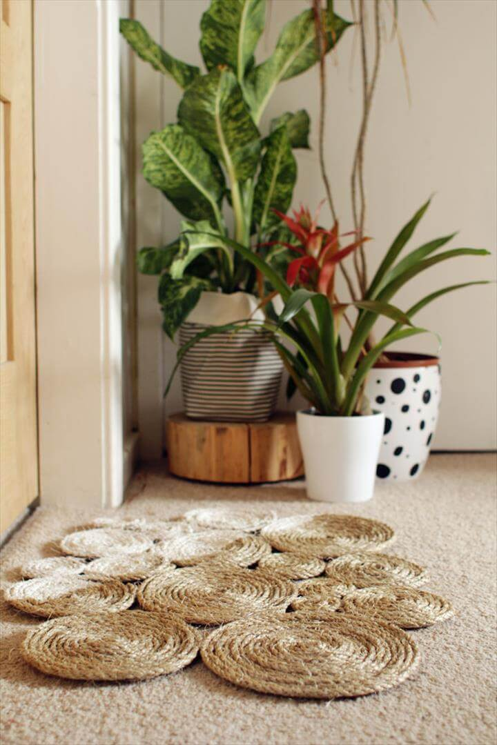 DIY Rope Coil Doormat