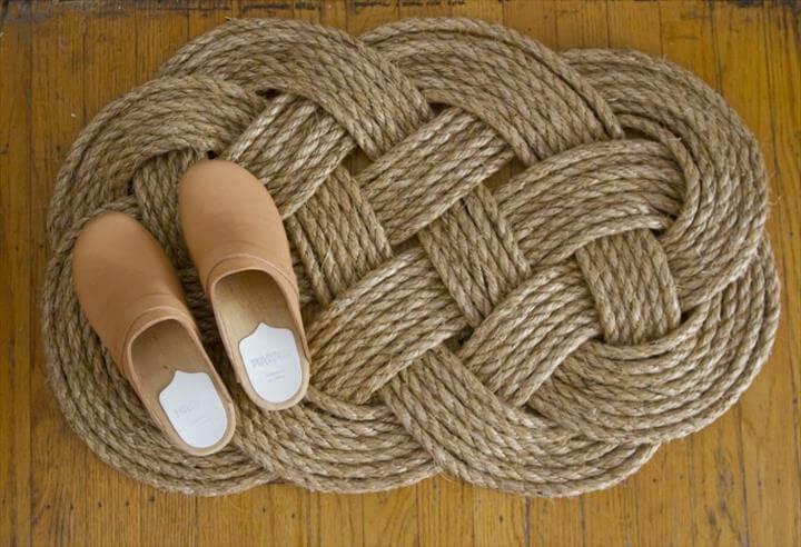 DIY Woven Rope Doormat