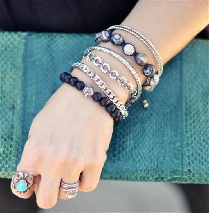 DIY Bracelet: Chain Link & Washers