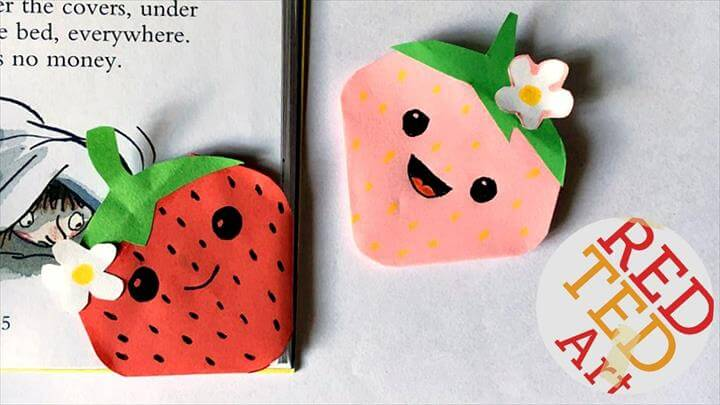Kawaii Strawberry Bookmark Corner