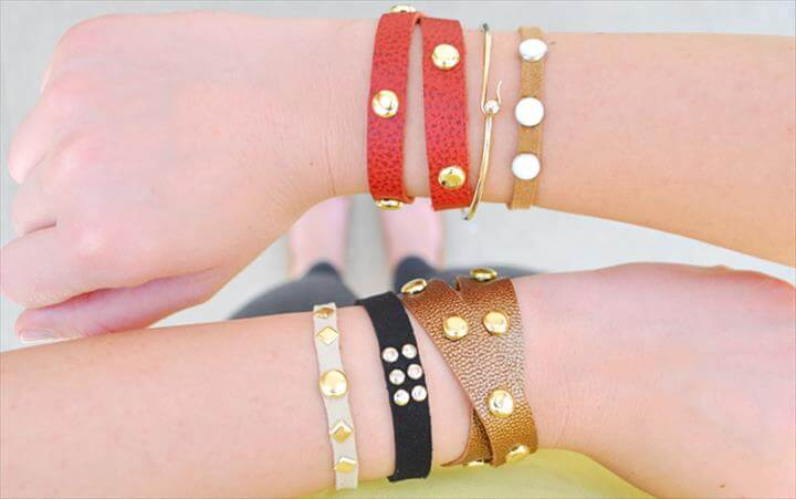diy bracelet, leather bracelet, friendship bracelet