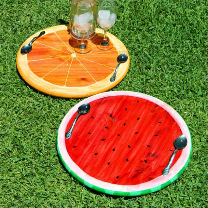 Summer Fruit Trays DIY