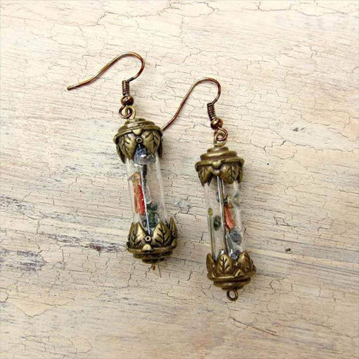Tutorial: Steampunk Vial Earrings