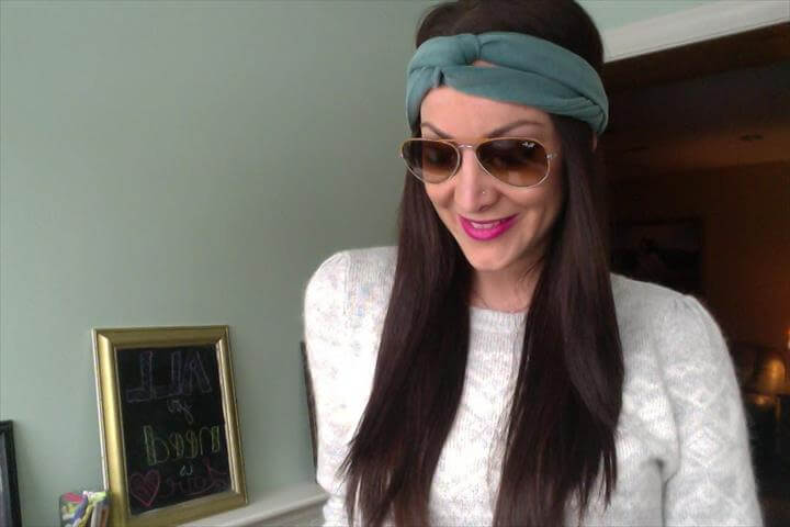 DIY: Turban Headband. NO SEW!