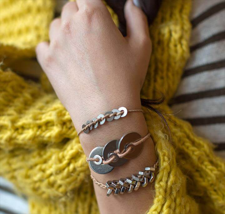DIY Metal Washer Bracelet
